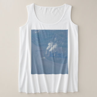 Powerplant Aerial View Women's Plus-Size Tank Top