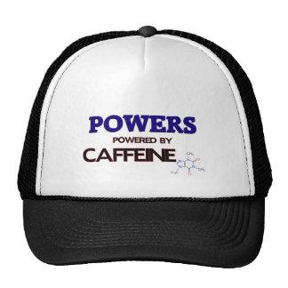 Powers powered by caffeine trucker hats