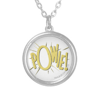 POWIE! SILVER PLATED NECKLACE