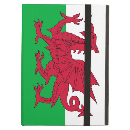 Powis Ipad Case with flag of Wales