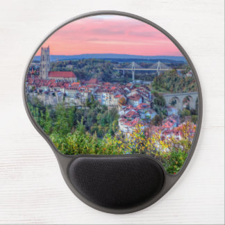 Poya and Zaehringen bridge, Fribourg, Switzerland Gel Mouse Pad