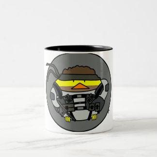 Poyo Metal Bird Two-Tone Coffee Mug