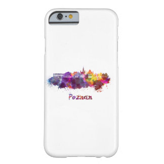 Poznan skyline in watercolor barely there iPhone 6 case