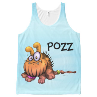 POZZ FUNNY DOG CARTOON All-Over Printed Unisex All-Over Print Tank Top