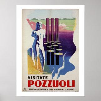 Pozzuoli ancient Greek Roman city Italy travel ad Poster