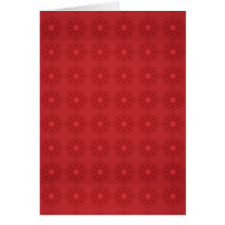 pp3 RED FLOWER FLORAL PATTERN BACKGROUNDS WALLPAPE Card