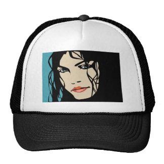 PPA0156 BLACK HAIR BEAUTY SALON SPA FASHION STYLE HAT