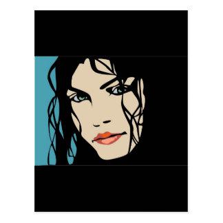 PPA0156 BLACK HAIR BEAUTY SALON SPA FASHION STYLE POSTCARD