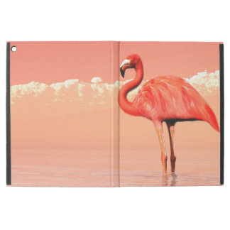 """pPink flamingo in the water - 3D render iPad Pro 12.9"""" Case"""