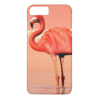 pPink flamingo in the water - 3D render iPhone 8 Plus/7 Plus Case