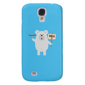 Ppolar BBQ Bear with sausage Q1Q Samsung Galaxy S4 Cover