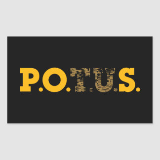 PPOS Stick It to 'em Plutocrat's Gold & Bronze Rectangular Sticker