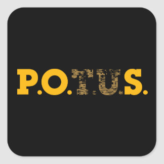 PPOS Stick It to 'em Plutocrat's Gold & Bronze Square Sticker