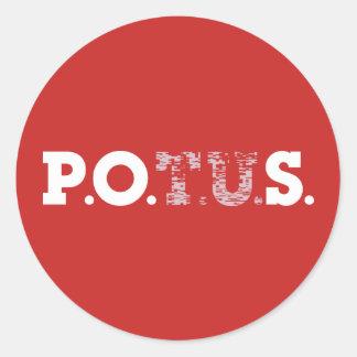 PPOS Stick it to 'em Red Alert Classic Round Sticker