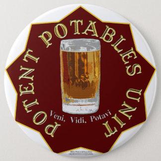 PPU (Potent Potables Unit) (red) 6 Cm Round Badge