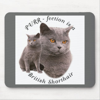 PPURR-fection British shorthair Blue Mouse Pad