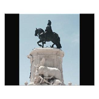 Praça do Comércio Statue Art Photo