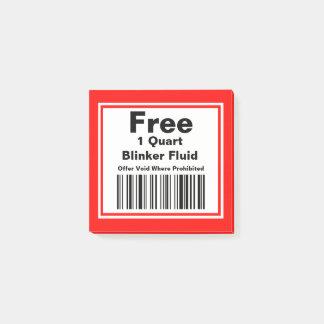 Practical Joke Blinker Fluid Coupon Post-it Notes