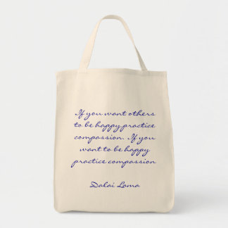 Practice Compassion Quotation Tote Bag