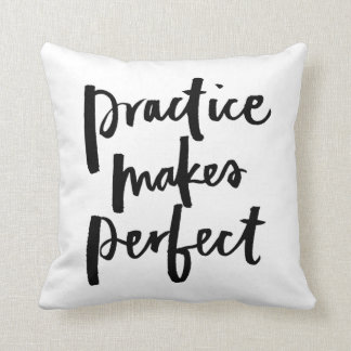 Practice makes Perfect - Brush lettering Throw Pillow