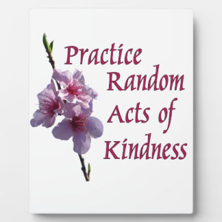 Practice Random Acts of Kindness Display Plaques