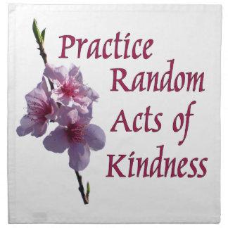 Practice Random Acts of Kindness Cloth Napkins