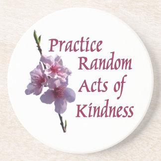 Practice Random Acts of Kindness Sandstone Coaster