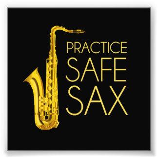 Practice Safe Sax Photographic Print