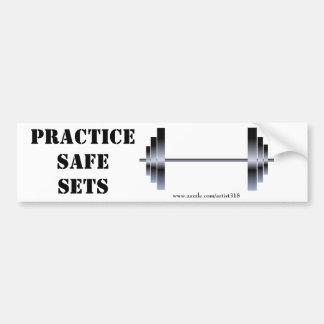Practice Safe Sets (bumper sticker) Bumper Sticker