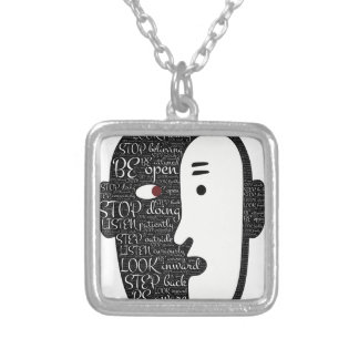 Practice unknowingly silver plated necklace