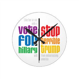 Pragmatist Round Clock