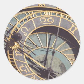 Prague Astronomical Clock Classic Round Sticker