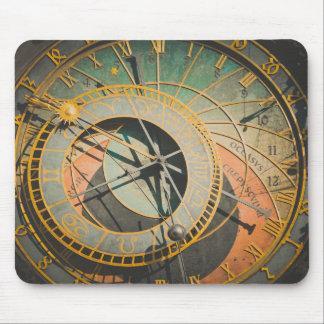 Prague astronomical clock in Czech Republic Mouse Pad
