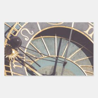 Prague Astronomical Clock Rectangular Sticker