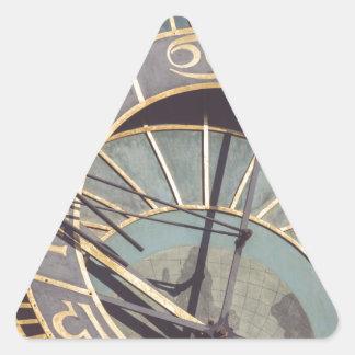 Prague Astronomical Clock Triangle Sticker