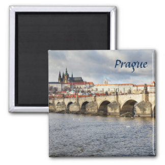 Prague Castle and Charles Bridge souvenir photo Magnet