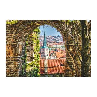 Prague Castle Garden Arch Canvas