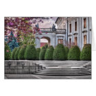 Prague Castle Garden in the Morning Card