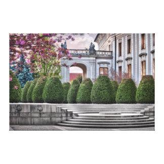 Prague Castle Garden Na Baste in the Morning Canvas Print