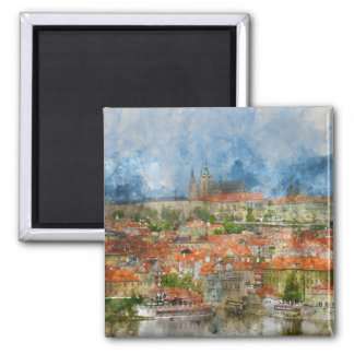 Prague Castle in Czech Republic Magnet