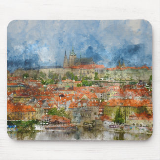 Prague Castle in Czech Republic Mouse Pad