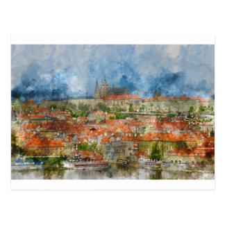 Prague Castle in Czech Republic Postcard