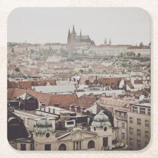 Prague Castle in the city of Prague Czech Republic Square Paper Coaster