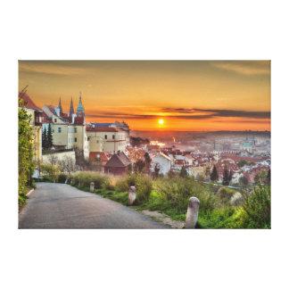 Prague Castle Morning Canvas