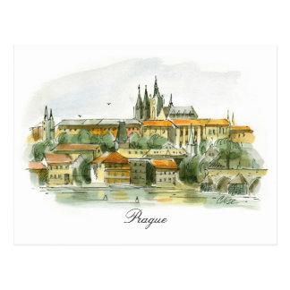 Prague Castle post card