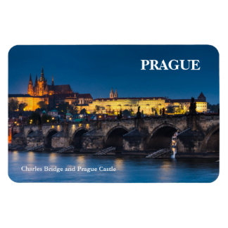 Prague Castle Rectangular Photo Magnet