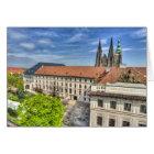 Prague Castle - St. Vitus Cathedral Garden Card