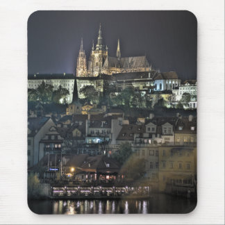 Prague Castle St.Vitus Cathedral Night Mouse Pad