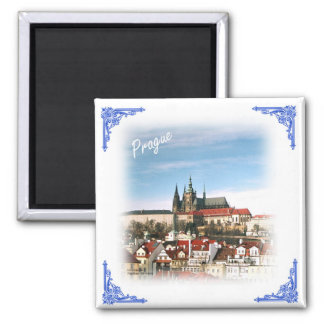 Prague city and castle-Czech republic magnet