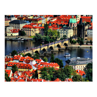 Prague Cityscape, Czech Republic Postcard